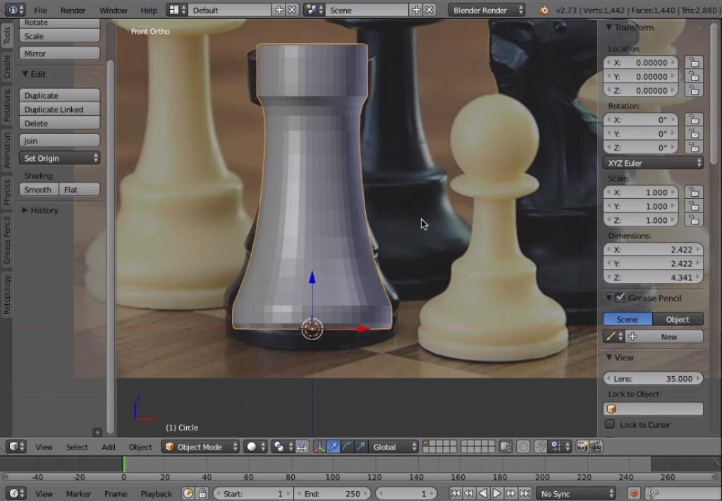 Blender tutorial creating a chess piece for 3d printing Simple 3d modeling online