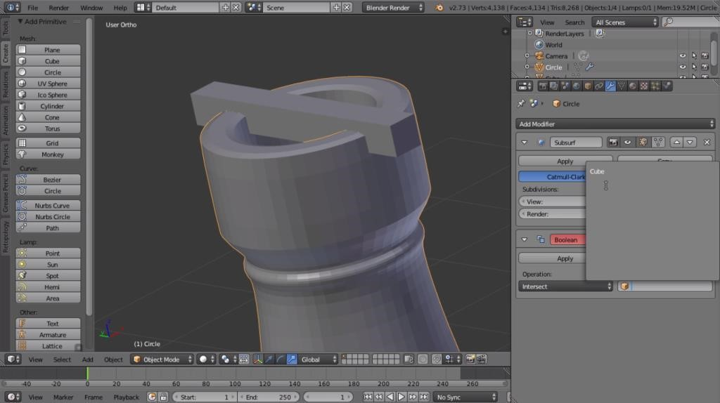 blender modeling tutorial: creating a 3D printable chess piece