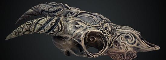 "Jody Garrett Prints a Goat Skull that Screams ""Fantasy"""