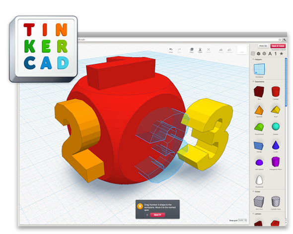 Learn to use beginner-friendly 3D modeling application TinkerCad