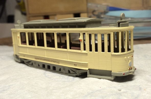 3d printing consumer products: tram scale model by guido mandorf