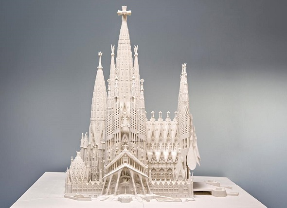 3d printing architecture sagrada familia model