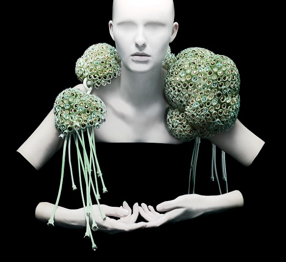 "3d printing in fashion: Coral Boleros from Melinda Looi's collection entitled ""Gems of the Ocean""."