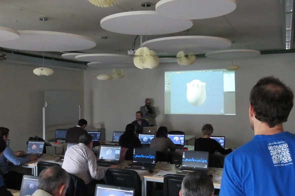 Frederik from Pixel Depot teached the participants to get started with MODO.