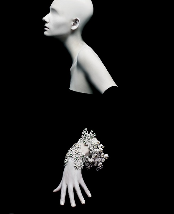 "3d printed fashion: Swim Corals Swim from Melinda Looi's collection entitled ""Gems of the Ocean""."