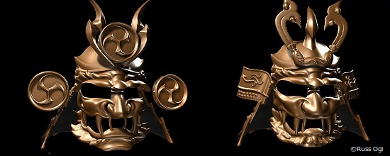 3D Printing Meets Japanese Samurai Culture: Developing the Concept of Raijin and Fujin Kabuto
