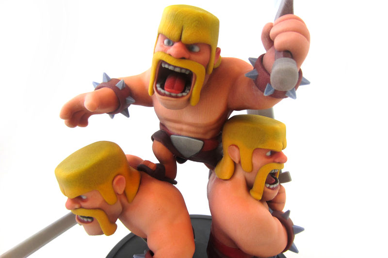 Clash of Clans figurine by Supercell. Printed in matt multicolor.