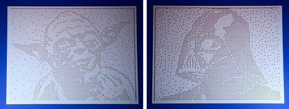Google チューリッヒオフィスのためにLEGOブロックで製作された、'The Force' by Drzach & Suchy
