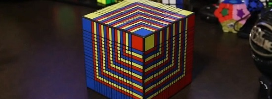 biggest 3d printed rubiks cube