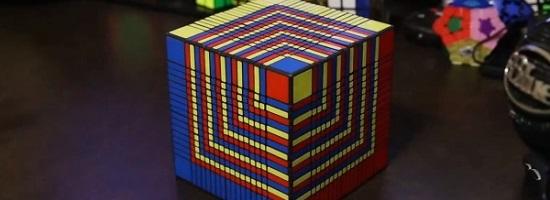 biggest 3d printed rubiks cube