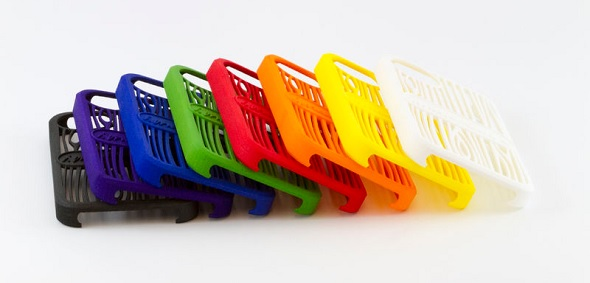 3D prints in Polyamide come in many different finishes and colors.