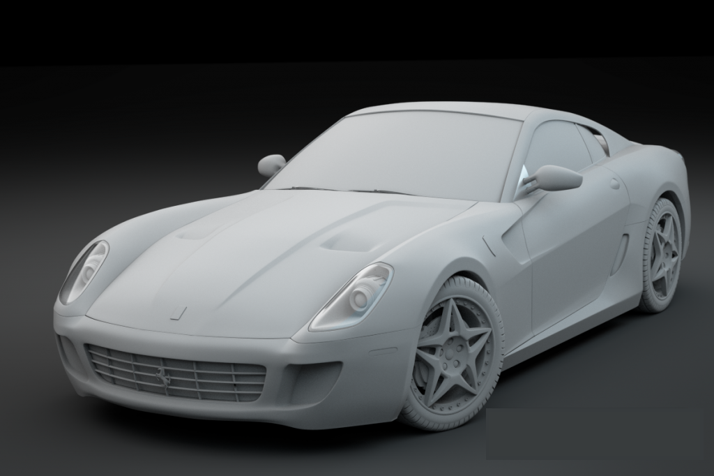 3D model of a Ferrari created by Jonathan Williamson
