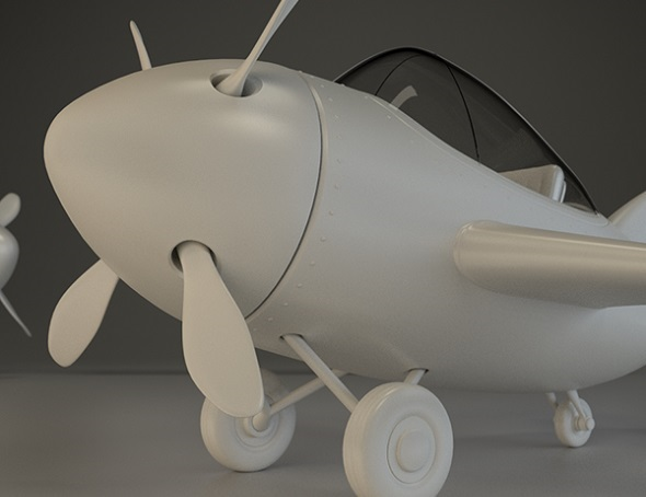 airplane-3d-model-comic-style