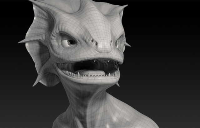 3D model of a creature created by Jonathan Williamson