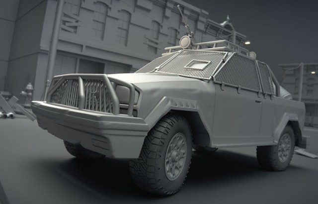 3D model of a military vehicle created by Jonathan Williamson