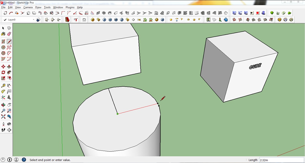 sketchup basic cutting tool