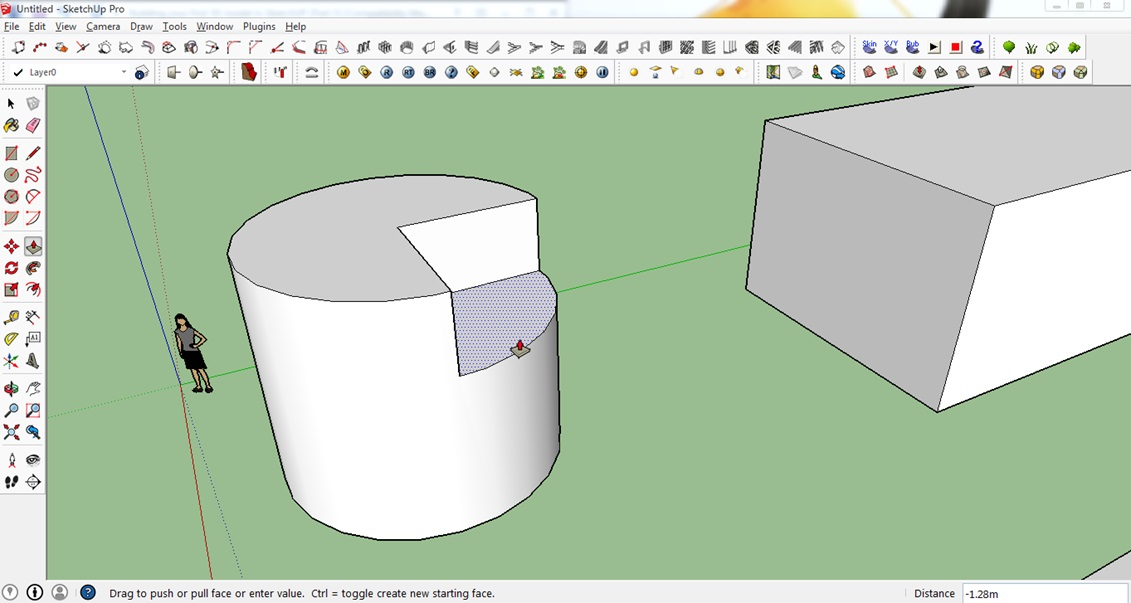 sketchup cutting function