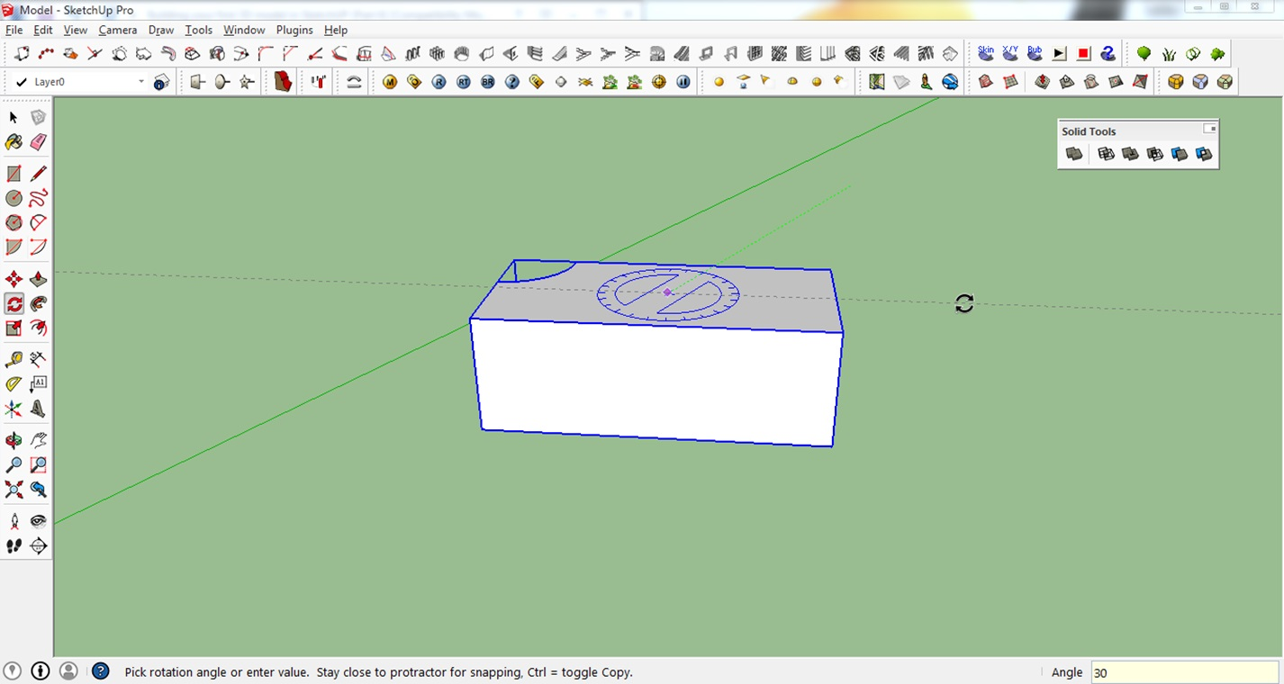 rotating in sketchup