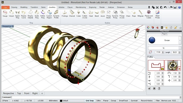 create a 3d model of a ring