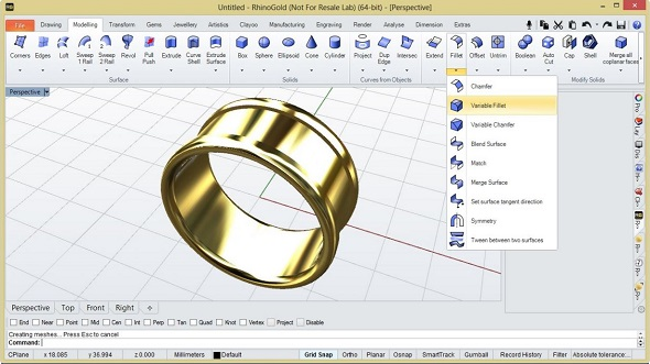 rhinogold tutorial 3d ring