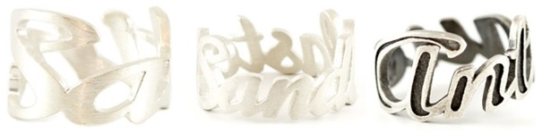 3D Printed Silver for Jewelery: Antique look, satin finish, and sandblasted
