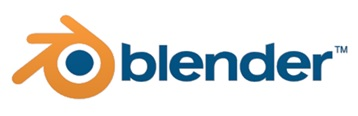 logo of 3d modeling software blender