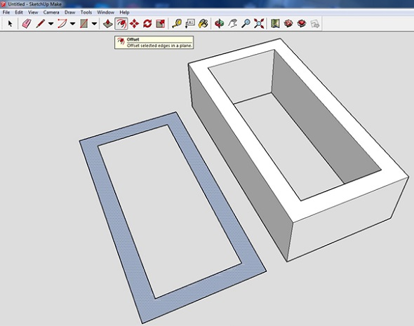 how to draw a straight 3d rectangle