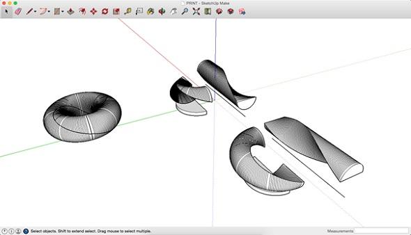 3D modeling a design in sketchup