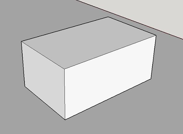 A watertight sketchup model for 3d printing
