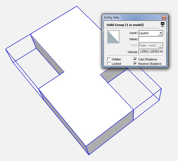 create solid sketchup 3d model