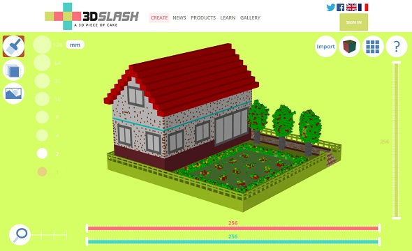 Start screen of 3DSlash