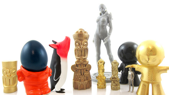 a number of 3D print in different 3D printing materials