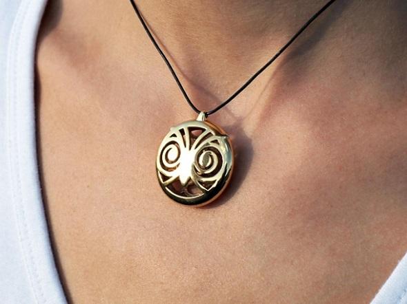 3d-printed-brass-pendant