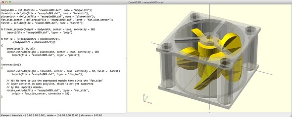 A Screenshot Of Free 3d Modeling Software Openscad