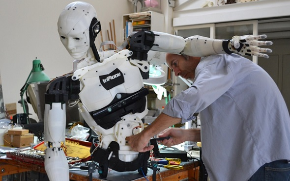 This inMoov robot photo by Gael Langevin is licensed under CC BY 3.0