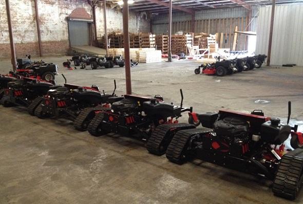 The armada of cutting-edge lawn mowers