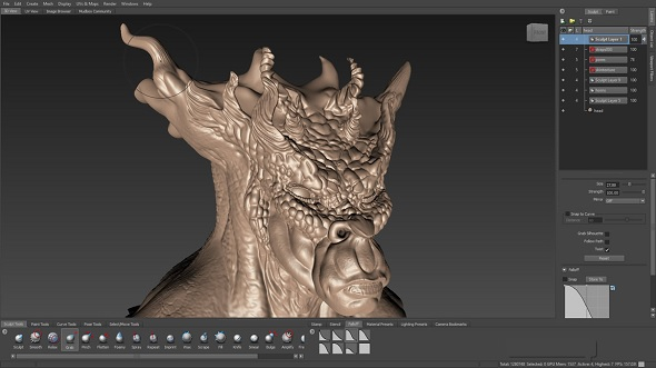 Mudbox 3d Sculpting Screenshot