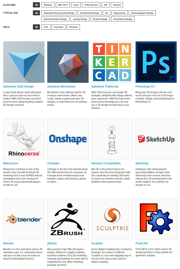 Free 3d Modeling Software 1 Printing Solution