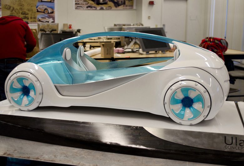 Ula Miami Concept Car by Josh Henry, transportation design student at The University of Cincinnati, Ohio, USA. Material: Transparent resin.