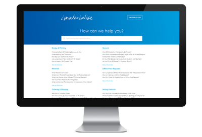 i.materialise Launches New Help Center for Most Popular Questions About 3D Printing Services