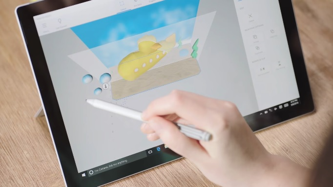 I materialise and microsoft work on getting 3d 3d modeling app