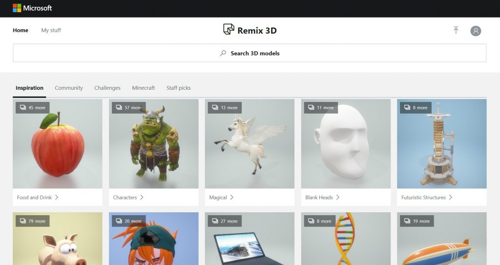 Remix 3D Database