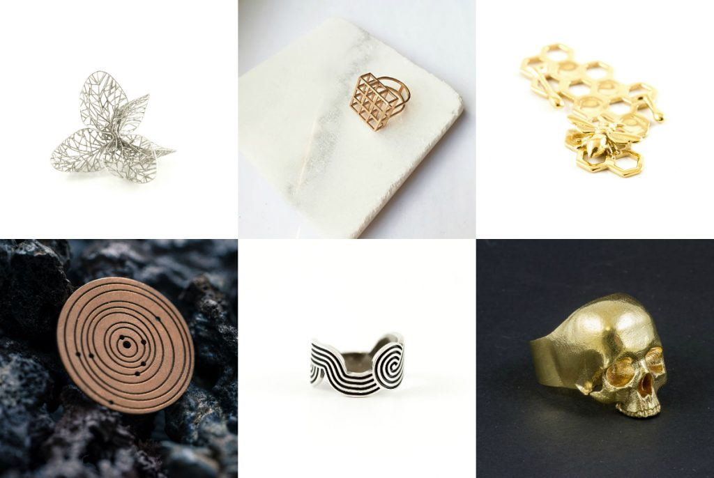 Top Four 3D Printing Materials for Jewelry Designers: Gold, Silver, Brass, Bronze