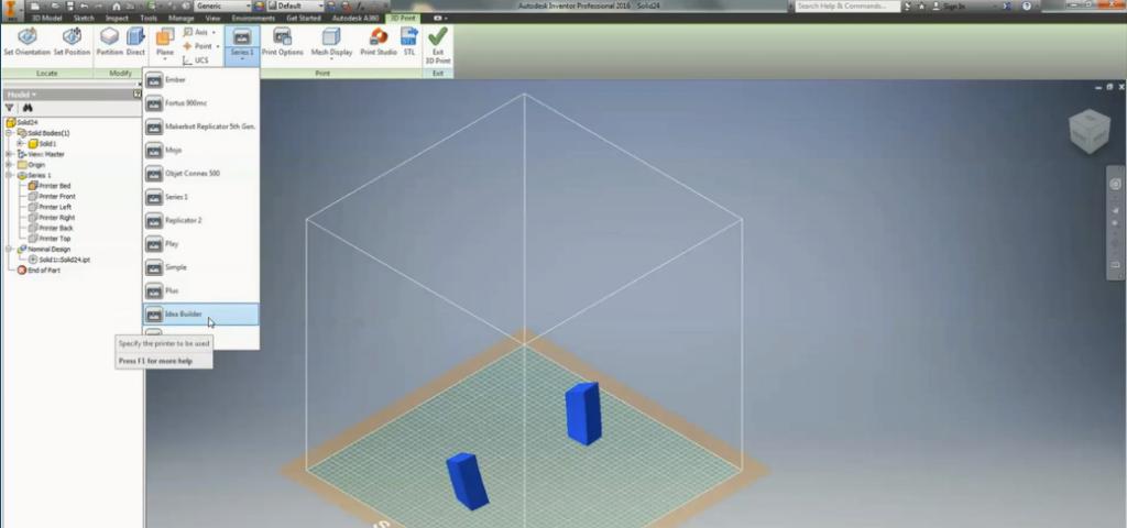 Autodesk 3D Prinitng Environment