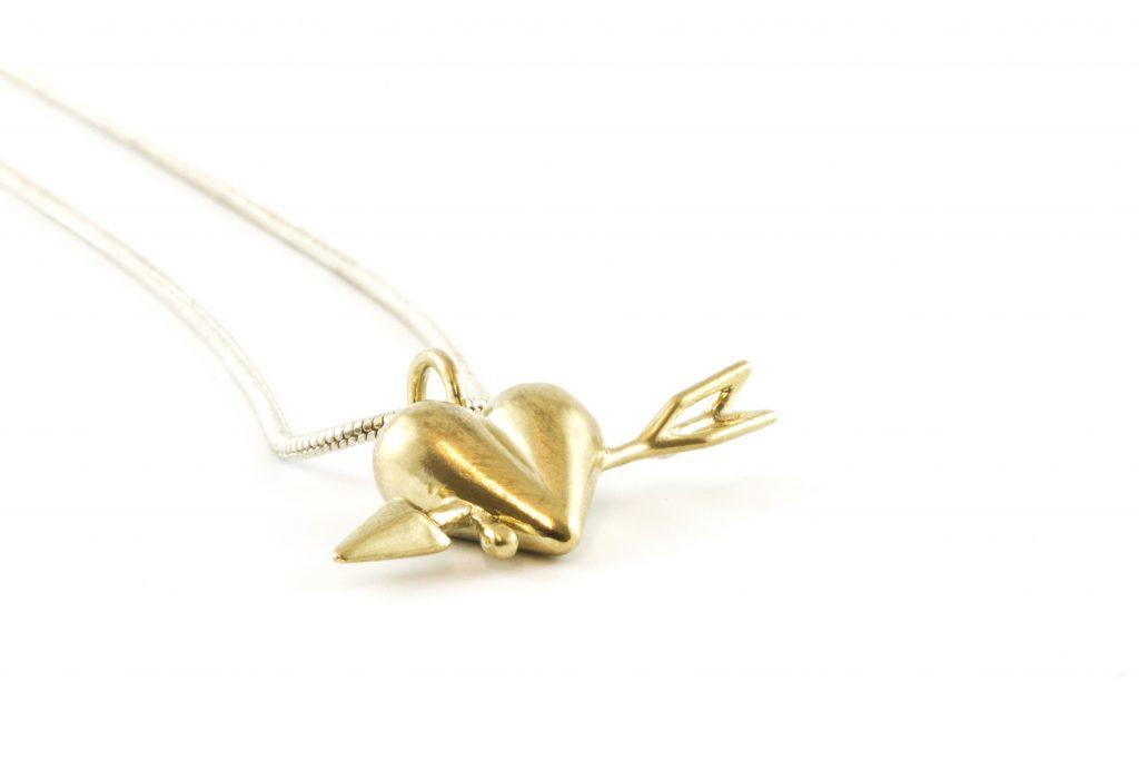 Heart and Arrow - Brass