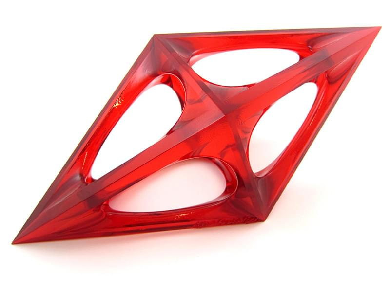 Design Award by OMC in red transparent resin