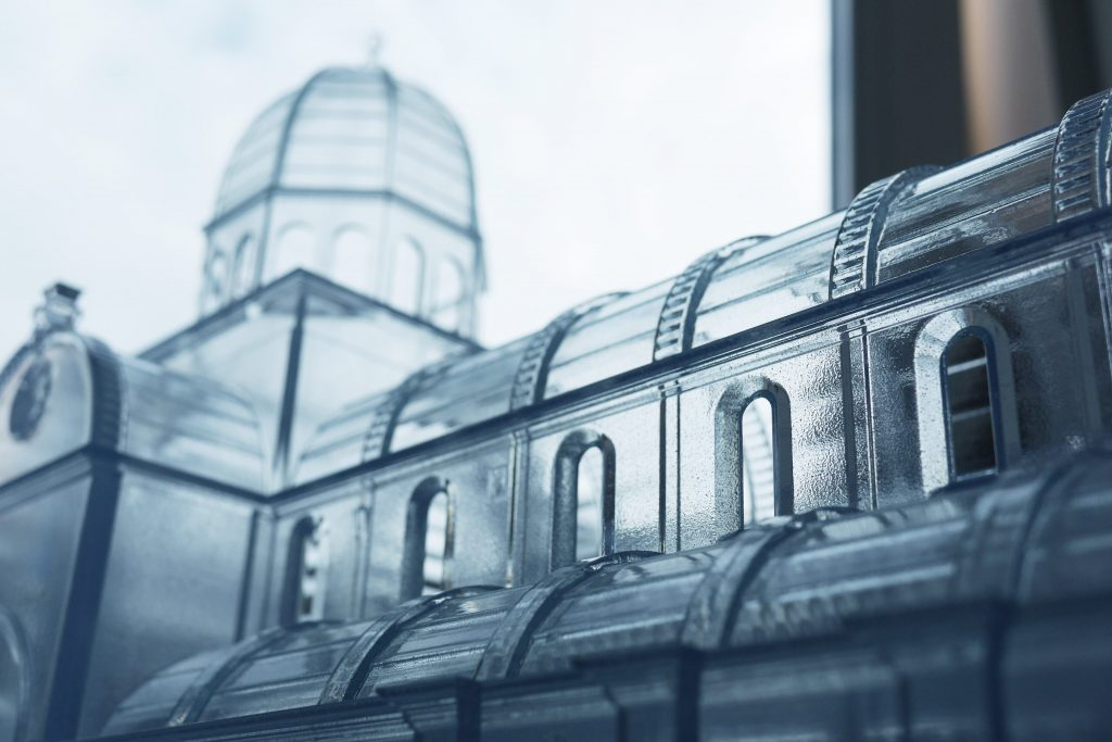 Šibenik Cathedral. 3D-printed in transparent resin