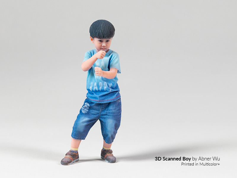 3d-printed multicolor+ boy figurine