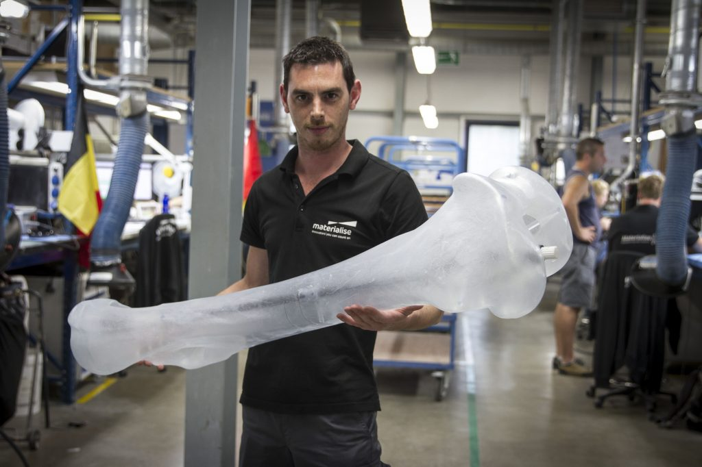 Some of the 3D-printed mammoth bones were larger than a fully grown man