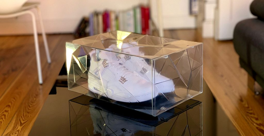 The RCKZ Sneaker Storage Box, 3D-printed in Transparent Resin